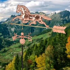 Polished Outdoor Roof Mounted Copper Horse Weathervane