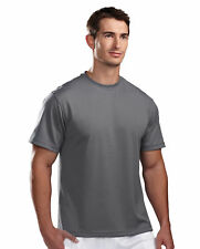 Tri-Mountain Men's Big And Tall Pique Square Bottom Crewneck T-Shirt. 122-Tall