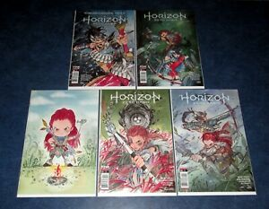 HORIZON ZERO DAWN 1 2 3 4 PEACH MOMOKO set + VIRGIN variant #1 1st print TITAN
