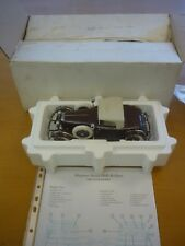 A Franklin mint of a scale model of a 1925 Hispano Suiza H6B.  boxed, paperwork