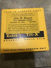 NOS 16MM Film KODAK Tri-X TXR449 Reversal Film 100 ft Black White Vintage 1960's