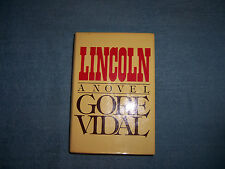 LINCOLN by Gore Vidal/1st Ed/HCDJ/Literature/Fiction/Historical