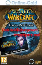 WOW World of Warcraft Carte Pré-payée 60 jours - Blizzard WOW Code Jeu PC - EU
