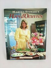 Martha Stewart's Hors d'Oeuvres Cookbook 1984 Signed VG Hard Cover
