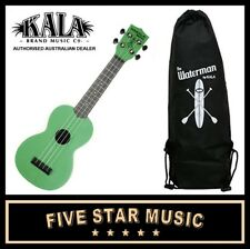 KALA MAKALA WATERMAN SOPRANO GREEN UKULELE WATER RESISTANT UKE WITH TOTE BAG