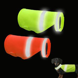 Orange Green Reflective Dog Safety Hunting Vest High Visibility Hi Vis Viz S M L