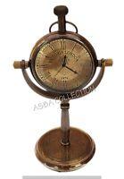 Vintage antike Messing Tischuhr Victoria London 1876 nautische Marine Geschenkar