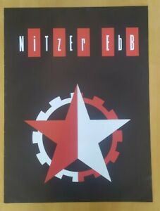 Vintage EBM Poster Nitzer Ebb Rare Band Original 1980s Punk