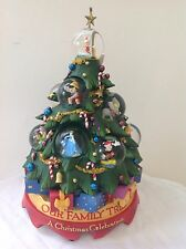 DISNEY HOLIDAY CHRISTMAS TREE MULTI CHARACTER SNOWGLOBE RARE--NEW