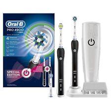 Oral-B Pro 4900 Elektrische Zahnbürste, mit 2. Handstück & Reiseettui R2