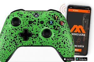 """3D Splash Green"" Smart Rapid Fire Custom Modded Controller for Xbox One S Mods"