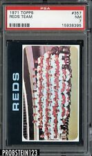 1971 Topps SETBREAK #357 Cincinnati Reds Team PSA 7 NM