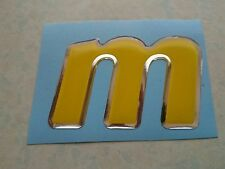 "MONDEO ST220/GHIA X/ZETEC S CUSTOM MADE MOTORSPORT STYLE ""M"" DOMED GEL BADGE"
