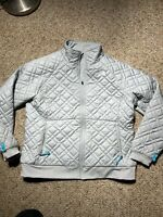 North Face Women's XL Quilted Insulated Penny Jacket High Rise Grey White