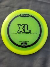 Yellow Discraft Z Xl Disc Golf Extra Long Range Driver Great Condition