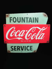 Coca-Cola Vintage Look Classic Styling Fountain Service Sign - BRAND NEW