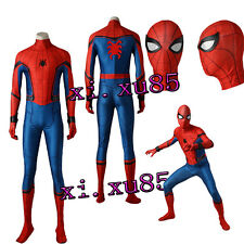 Spiderman Spider-Man:Homecoming Cosplay Costume Jumpsuit and Mask Halloween COS