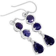 Iolite 925 Sterling Silver Earrings Jewelry E2280I