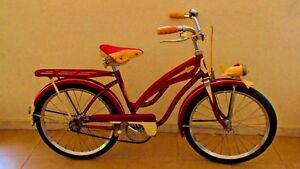 UNIQUE VINTAGE EXCELLENT 60s UNIVERSAL SPACE RED BOYS - GIRLS ROAD BICYCLE