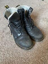 Dr Martens Black Serena Fur Lined Boots 5
