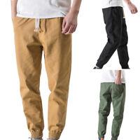 New Men's Leisure Pants Elastic Waist Sports Trousers Drawstring Design Trousers