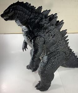 "JAKKS GODZILLA Monster GIANT SIZE 24"" tall 3' long Deluxe tail swinging action"
