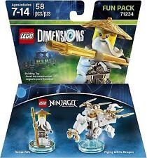LEGO DIMENSIONS The Movie Fun Pack Sensei Wu Ninjago White Dragon 71234 (58 pcs)