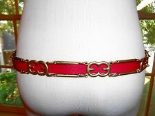 NWT $395 Escada Leather Logo belt S.