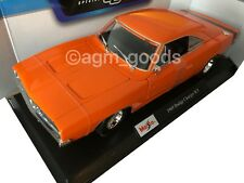 Maisto 1:18 Scale - Dodge Charger R/T 1969 - Orange  - Diecast Model Car