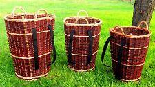 Huckelkorb Weidenkiepe Tragekorb Rückentragekorb Kiepe 58cm mit Gurte Holzkorb