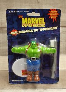 Marvel Super Heroes Bendable Toy Toothbrush - Incredible Hulk - New