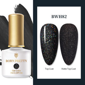 BORN PRETTY 7ML Super Top Coat Nail Art Gel Color Polish Soak Off UV/LED Gel