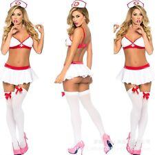 Hot Sexy Ladies Nurse Naughty Doctor Uniform Halloween Party Fancy Dress Costume