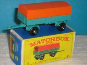 Matchbox RW No 2 Mercedes Trailer in Original Box Mint   -   Factory cond. MINT