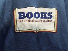 BOOKS (THE ORIGINAL SEARCH ENGINES) T-SHIRT (2XL) LIGHT BLUE-TEACHERS- RARE