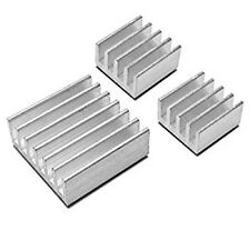 3 x Silver Aluminium Heatsink Cooling Block for Raspberry Pi  All Models