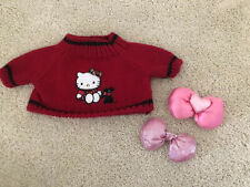 Build A Bear Workshop Girl Bear Clothes Hello Kitty Sweater Sanrio Bows BABW