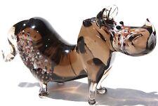 "2"" Murano Style Art Craft Color Glass Figurine ""Happy Rhinoceros "" M22"