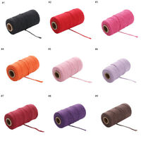 100meters/roll Colorful 2ply Bakers Twine String Cotton Cords Rope Home Decor