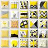 New Yellow Geometric Square Cushion Cover Throw Pillow Case Home Sofa Decor