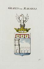 1818 Wappen von Marsigli Kolorierter Kupferstich Tyroff