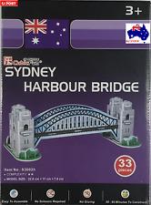 Sydney Harbour Bridge Australia 3d Model Jigsaw Puzzle 33 Pieces S3002H