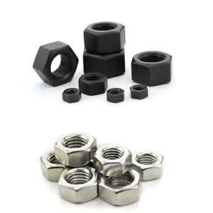 10/25/50/100pcs M1.6 M2 M2.5 M3 M4 M5 M6 M8 M10 Stainless Steel Hex Nuts Hexagon