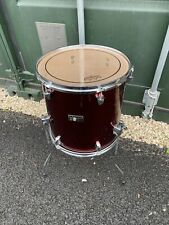 """More details for free p&p. a premier 14x14"""" floor tom w legs. 14"""". wine  finish. ft108193"""