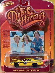 72 Plymouth Roadrunner -Johnny Lightning-1:64- Dukes of Hazzard 3 OVP