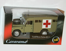 Oxford Cararama Land Rover Series III 109 Military Medical Corp Ambulance 1 43