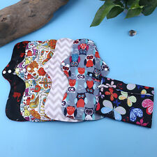 6 Pcs Reusable Bamboo Charcoal Heavy Flow Menstrual Cloth Sanitary Pads Sets