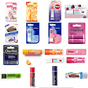 ALL Big Brands Chapstick Nivea Palmer's Blistex Happy lips Lip Balm Relief Cream