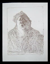 Horst Janssen 1929 Hamburg / Lithographie, handsigniert / Selbst / Griffelkunst