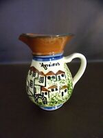 Hand Painted Red Clay Pottery Creamer/Pitcher (#4A089)